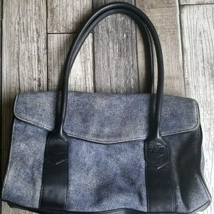 ANNE KLEIN denim like shoulder bag